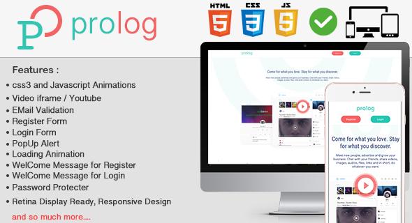 Prolog PHP FULL Login & Register Page for oobenn Instagram Style Social Networking Script - 1